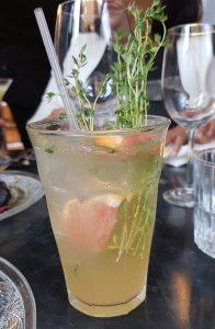 Grapefruit and Thyme Gazoz Cocktail