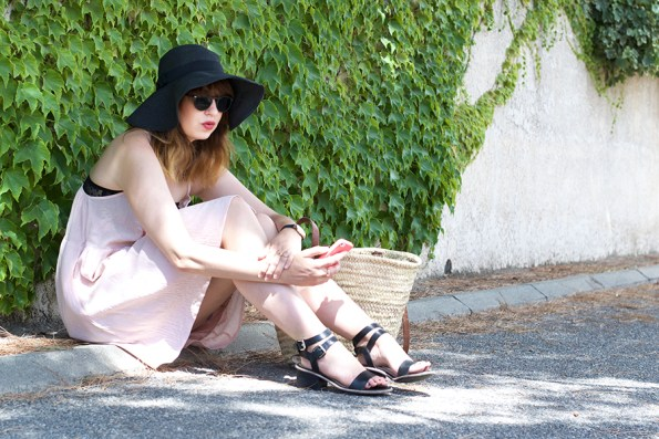 robe rose, légère, nafnaf, clarks, matt keaton