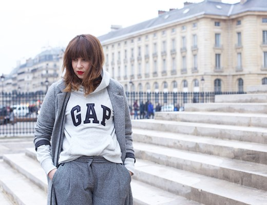 look-gris-sweat-gap-talons-donna-piu- pantheon