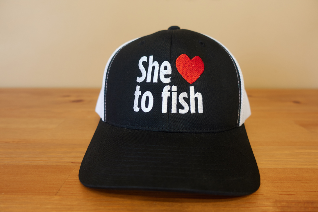 6fbf3a85dcace1 'She Loves To Fish' Snapback Hat - Ashley Rae - SheLovesToFish.com