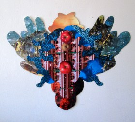 """""""Florilegia #1, collage: National Geographic, 14.5"""" x 12"""", framed 22"""" x 18"""", $100"""