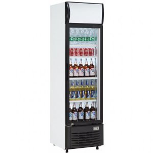 BEVERAGE COOLER 282 LITERS GAS R600 WHITE GLASS DOOR