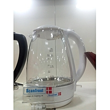 Model SFKAK 1802 White PP Glass Kettle 1.8L Strix Controller