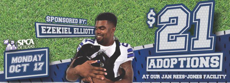 new style efa15 e6ac8 Cowboys Running Back Sponsors Shelter Adoptions – ShelterMe.tv