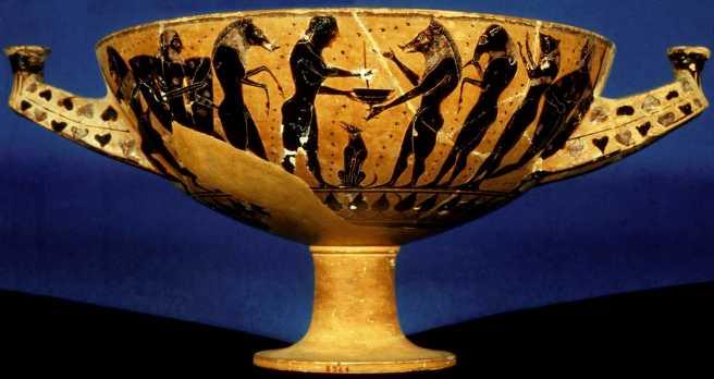 Image result for Ancient Greek vase Odysseus meets princess