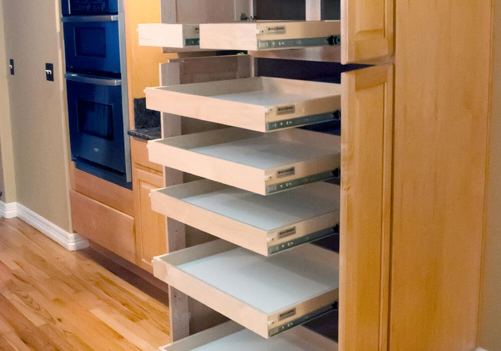 Custom Roll Out Shelves For Kitchen Cabinets, Pantries