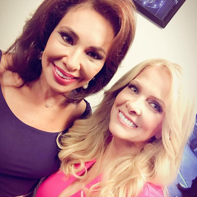 Got to hang out with judgejeanine today at foxandfriends !hellip