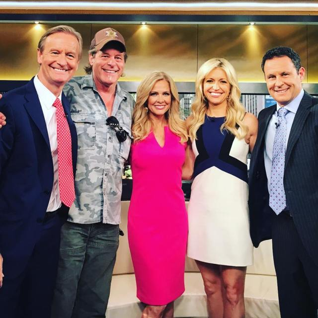 Had so much fun at foxandfriends today with Brian Ainsleyhellip