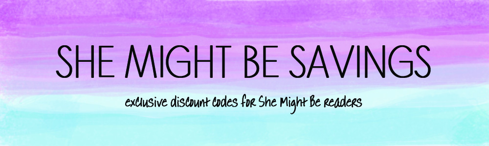 Exclusive Discounts For She Might Be Readers! - She Might Be