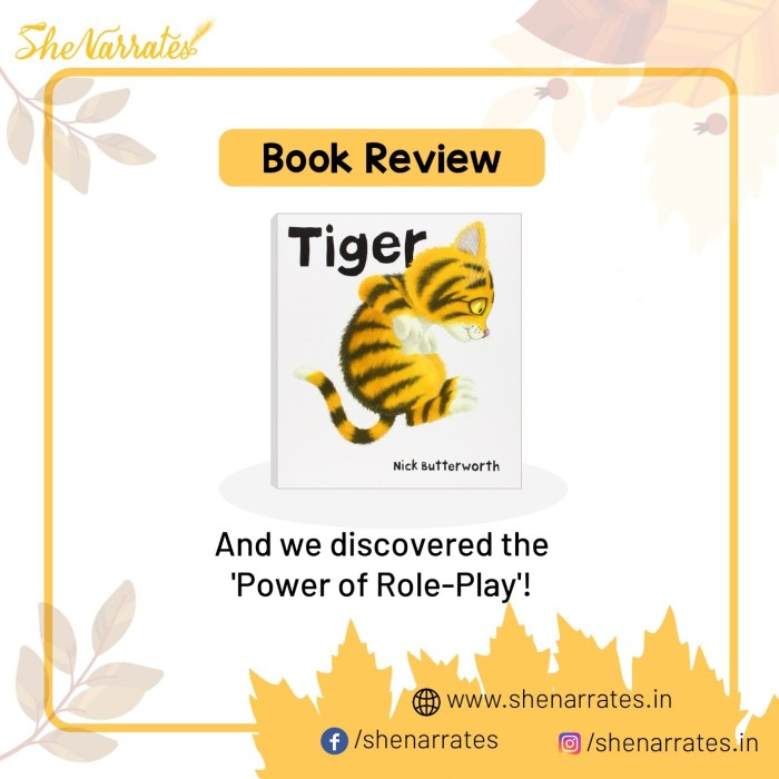 Autumn reads for children and Book review of Tiger by Nick Butterworth