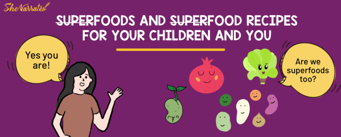 SUPERFOODS AND SUPERFOOD RECIPES FOR YOUR CHILDREN AND YOU