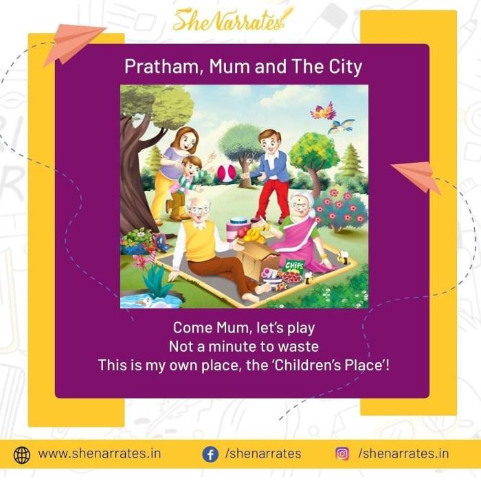 The book 'Pratham, Mum and The City' by Pallavi Prakash Kumar, demo page at She Narrates