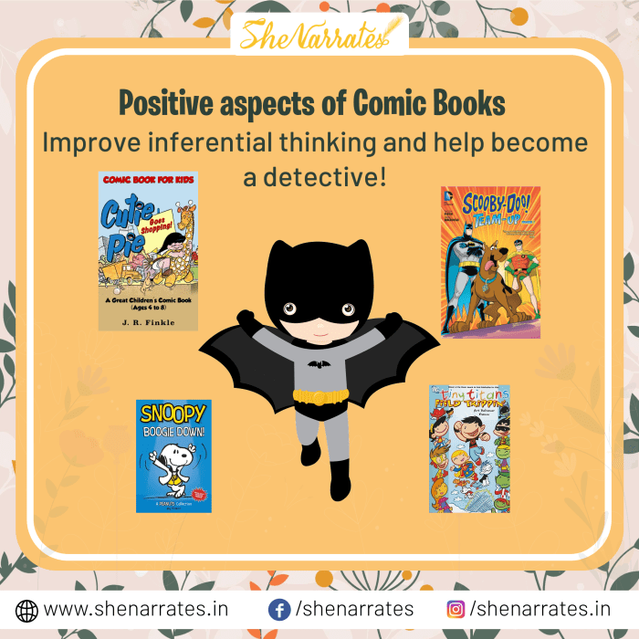 Reading Comic Books is important for Children. It helps improve inferential thinking in children.
