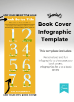 Book Cover Infographic Template - Number Pkg