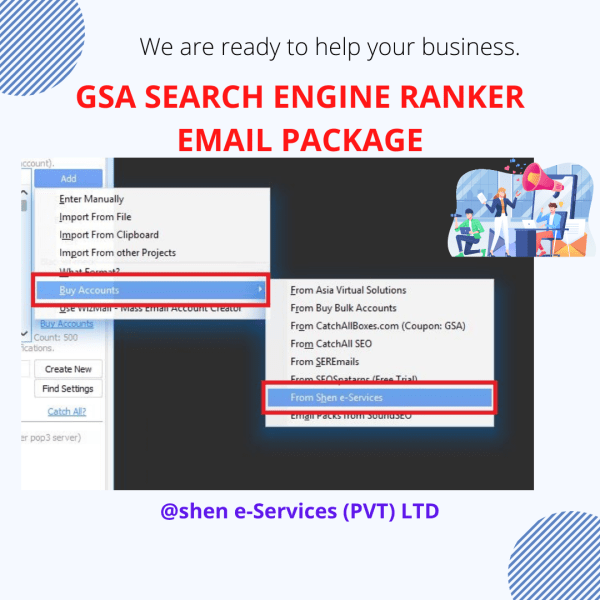GSA Search Engine Ranker Email package