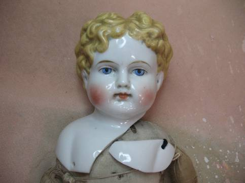 Antique China Doll Upper