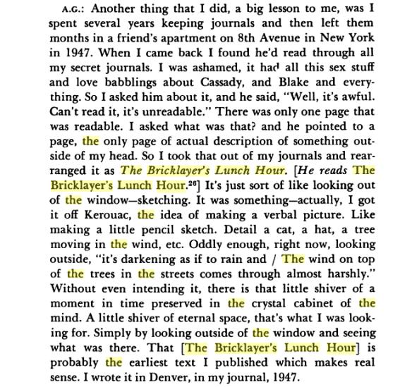 Allen Ginsberg interview...from Naropa's Jack Kerouac School of Disembodied Poetics