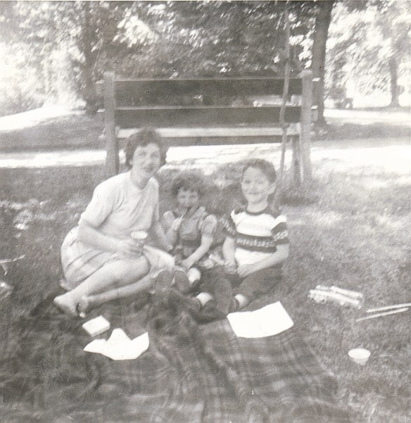 Mom, Me and my big brother, John...sharing a picnic at the Quebec City Zoo.