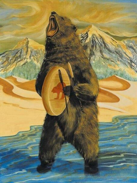 Bear Spirit Painting Borrowed from Morley Redwood.