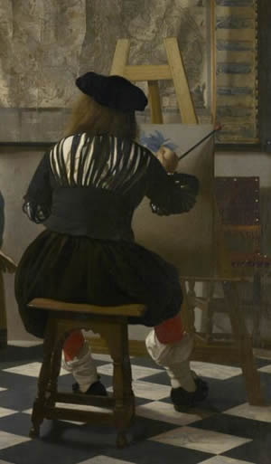 vermeer-at-easel