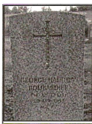 George Haddow resting place Powassan Union Cemetery