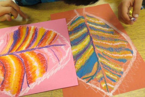 Kath's Canon October 9, 2015 Contoured Leaves Elementary Art 009