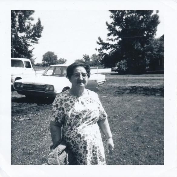 Florence Moors at Eleanor's home in Raymond, Alberta 1960