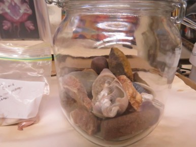 Shells and stones...Prince Edward Island. I get teary looking at these.