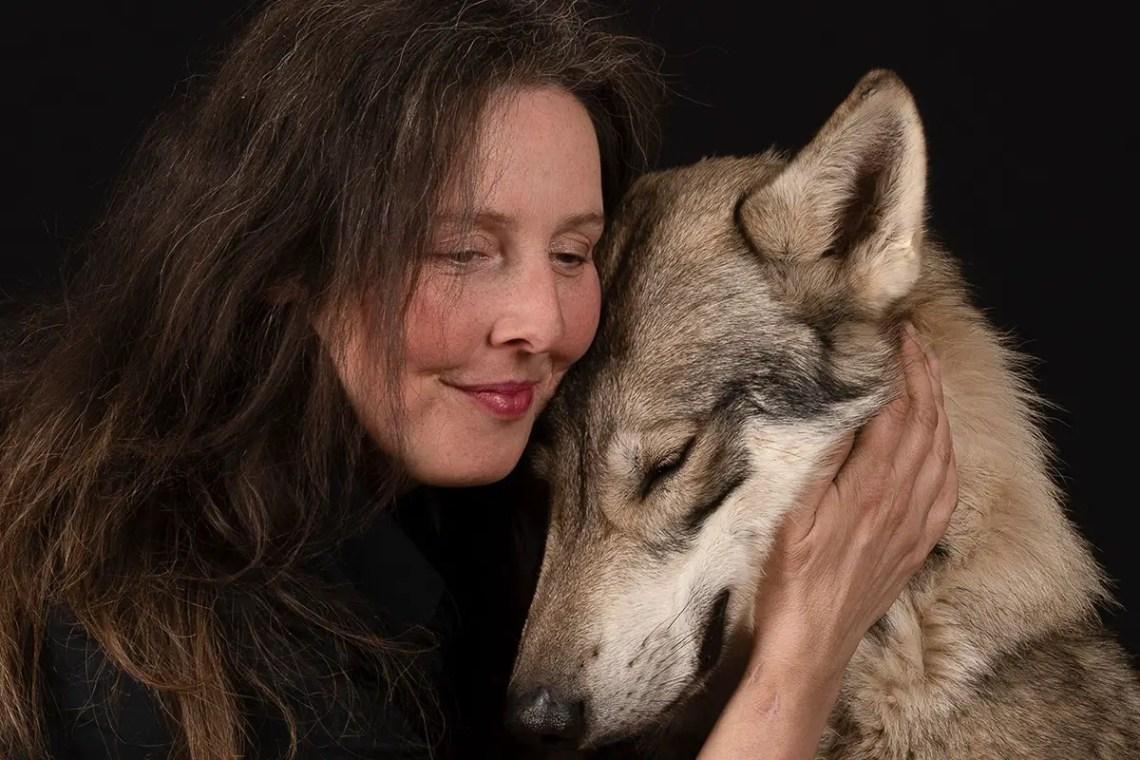 British Lupine Dog With Founder Natalie Langstrom