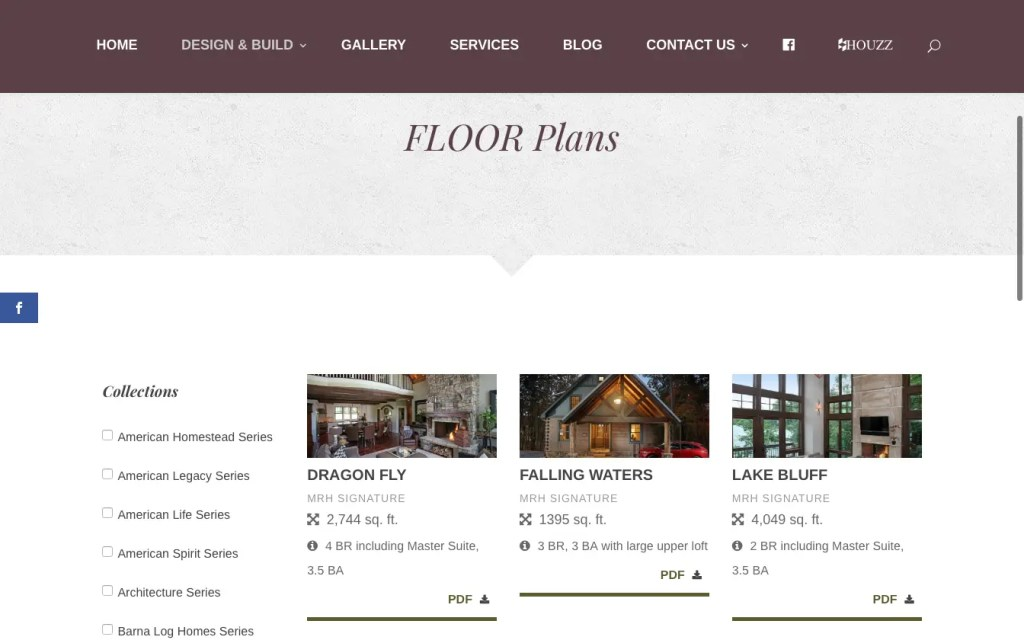 Floor plan filtering and lead generation.