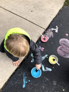 Sidewalk Chalk Paint Cornstarch Water
