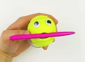 tennis-ball-pen-holder