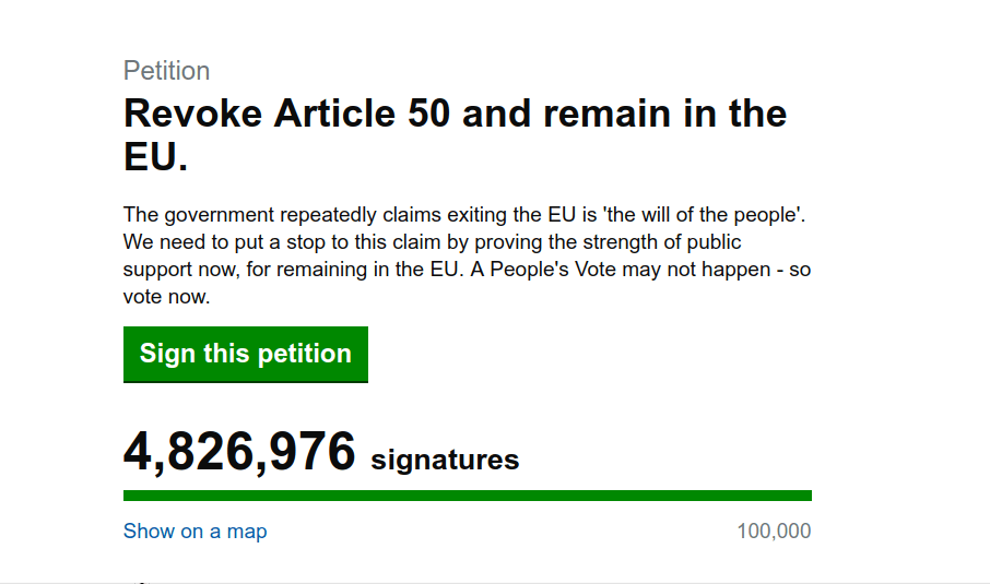 110,000 Kent residents sign Revoke Article 50 petition