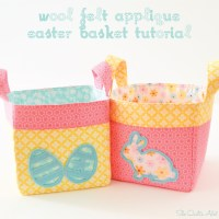 Wool Felt Applique Easter Baskets Tutorial