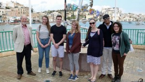 Sherborne youth delegates on Youth in Politics project Markaskala, Malta