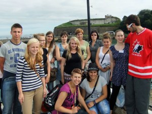 Polish students visiting Weymouth