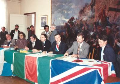 Signing of the original charter in 1991