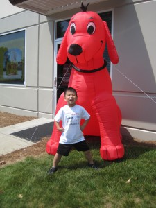 Sheridan and Clifford the Big Red Dog 2
