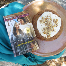 The Warrior's Vow by Christina Rich. Please enjoy some Raisin Cake!