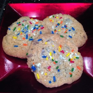 Monster Cookies with sprinkles