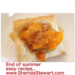 Easy summer fruit tart...apricot.