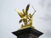 Paris - Golden adornment on the Pont Alexandre