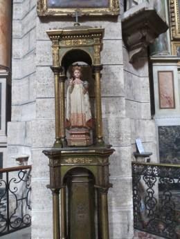 Beautiful statue in a Pezenas church