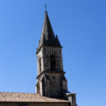 Church spire in Callas