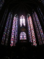 Stained glass panels in Sainte-Chapelle