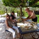 Lunch under the mulberry trees