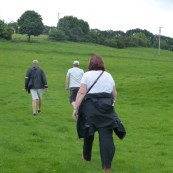 Trudging through fields