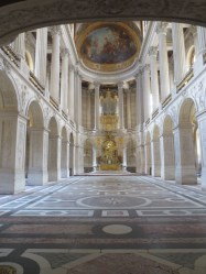The Royal Chapel with its magnificent marble floor.