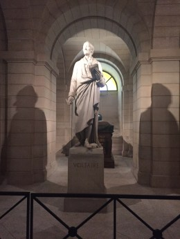 Voltaire in the crypt