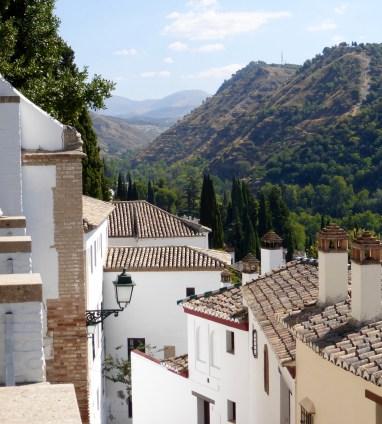Looking down from the Mirador San Nicolas